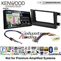 Volunteer Audio Kenwood DNX874S Double Din Radio Install Kit with GPS Navigation Apple CarPlay Android Auto Fits 2006-2008 Honda Ridgeline