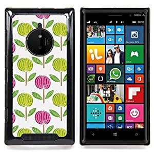 Pink White Green Wallpaper Caja protectora de pl??stico duro Dise?¡Àado King Case For Nokia Lumia 830