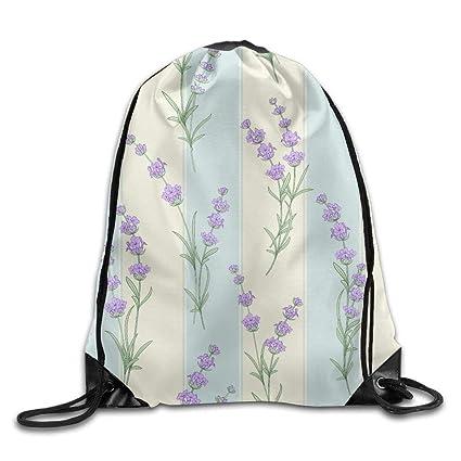 bd95f539cedf Amazon.com   Drawstring Backpack Gym Bag Travel Backpack, Lavender ...