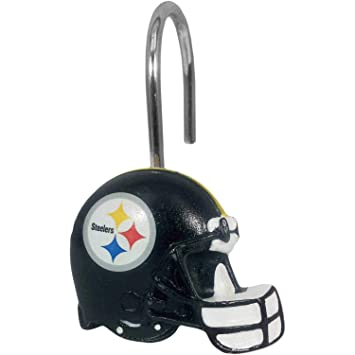 e45bef3c7 The Northwest Company NFL Pittsburgh Steelers Shower Curtain Rings ...
