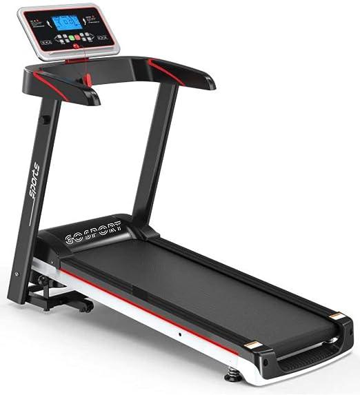 BHB-AY Tapis roulant in Gomma Pieghevole con Ammortizzatore Display a LED Esercizio aerobico Multifunzionale per la Perdita di Peso Allenamento cardiovascolare Unisex