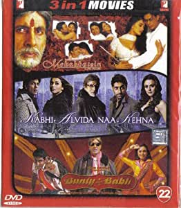 Mohabbatein / Kabhi Alvida Naa Kehna / Bunty Aur Babli(3 in 1 - 100% Orginal DVD Without Subtittle)