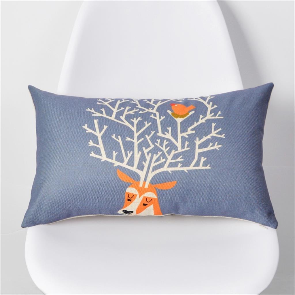 Almohada lumbar de 30 * 50 cm almohadones de color minimalista nórdicos