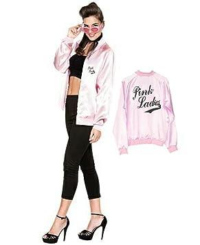 EUROCARNAVALES Disfraz de Pink Lady con Serigrafia - Mujer, S: Amazon.es: Juguetes y juegos