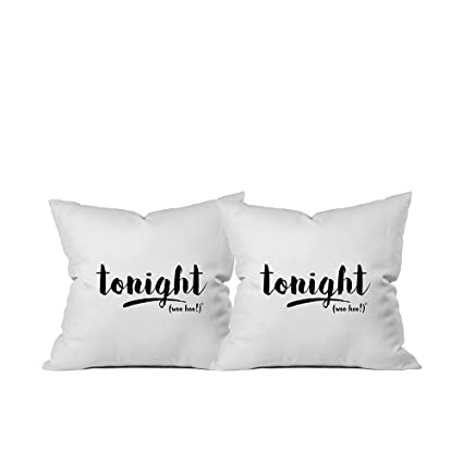 oh susannah tonighttonight reversible 18 x 18 inch throw pillow cover bridal shower
