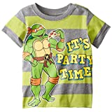 Teenage Mutant Ninja Turtles Little Boys' Toddler Short Sleeve Raglan T-Shirt, Green/Grey, 2T