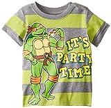 Teenage Mutant Ninja Turtles Little Boys' Toddler Short Sleeve Raglan T-Shirt, Green/Grey, 4T