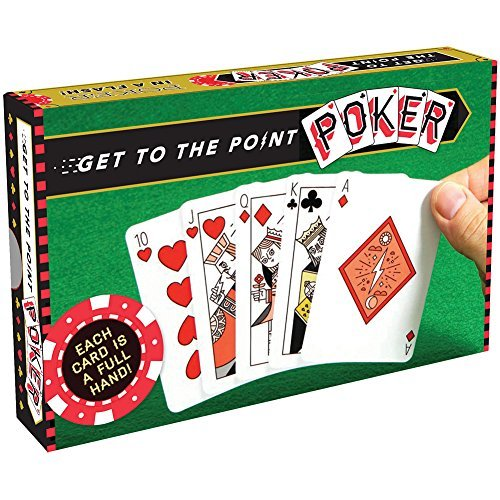 CHRONICLE BOOKS/ HACHETTE Get to The Point Poker - Easy to Learn & Play Each Card is A Full Poker Hand