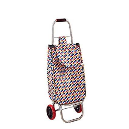 bdd7e4d02924 Amazon.com: ZOUQILAI Trolley Dolly Basket Weave Tote, Color Shopping ...