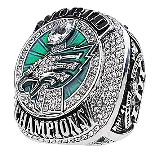 - Super Bowl 52th Philadelphia Eagles 2017-2018 MVP Wentz 11# Championship Replica Ring Size 8~14 (11)