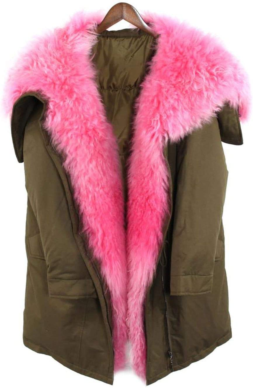 2019 Winter Fashion Street Womens Down Jacket Real Mongolian furryCoat Outerwear Oversized Color1