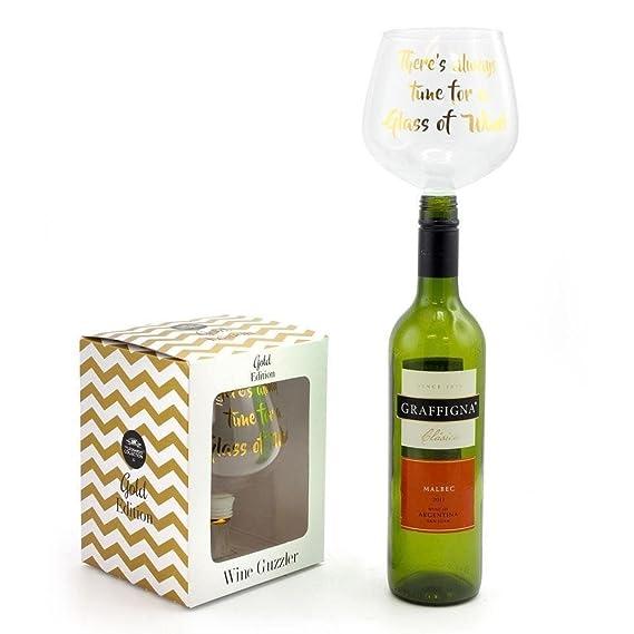 Vino de microfibra convierte su botella de vino en un vaso de vidrio (una copa