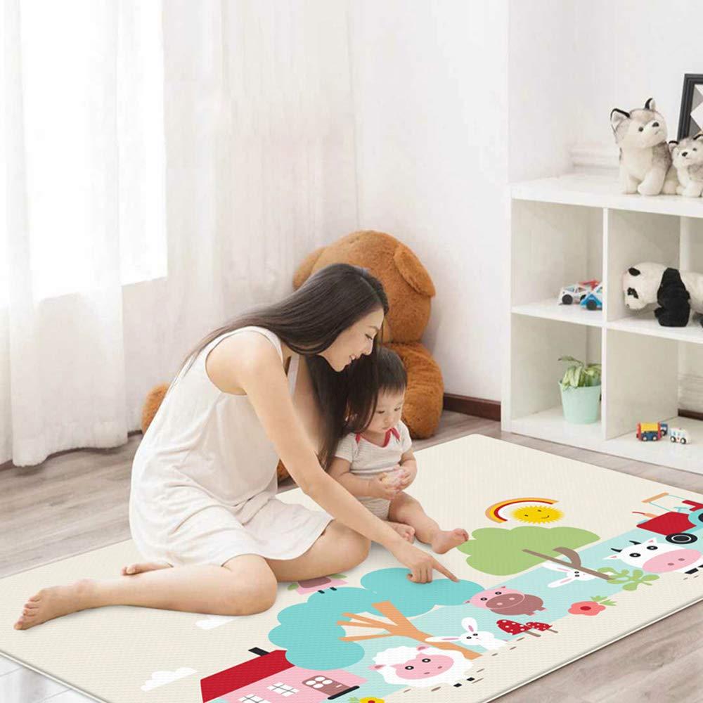 WAYPGC Alfombra de Juegos para bebés, Seda Impermeable de Doble ...
