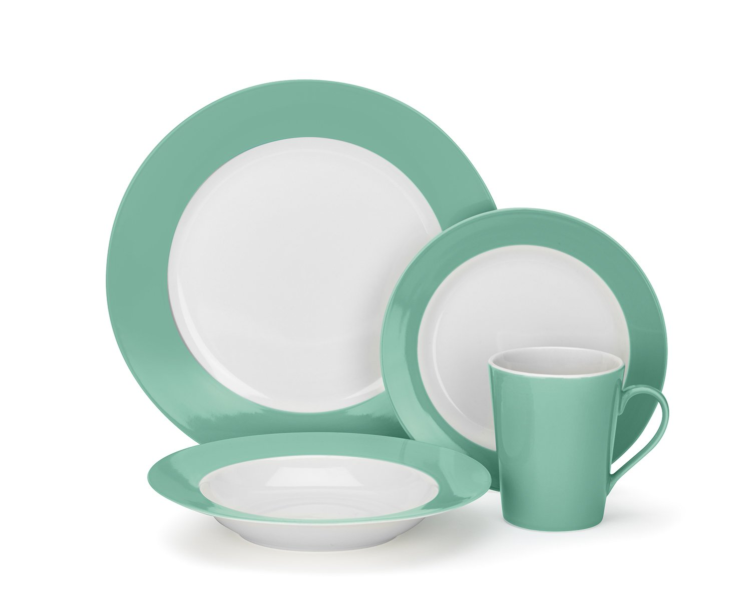 Amazon.com Cuisinart CDP01-S4WG Laurielle Collection 16-Piece Porcelain Dinnerware Set Kitchen u0026 Dining  sc 1 st  Amazon.com & Amazon.com: Cuisinart CDP01-S4WG Laurielle Collection 16-Piece ...