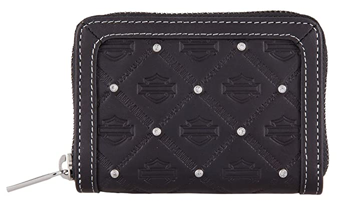 Harley-Davidson Women s B S Embossed Leather Zip-Around Wallet ... 827e809076