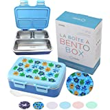 Stainless Steel Toddler Lunch Box for Daycare, Insulated Bento for Toddlers Baby Boys, 3 Eco Metal Portion Sections Leakproof