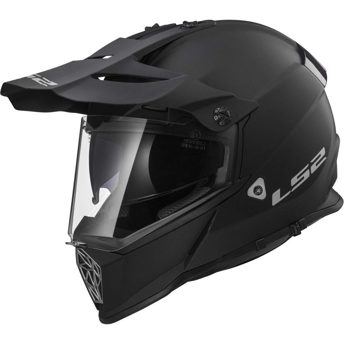 LS2 Helmets Motorcycle /& Powersports Helmets Off-Road Style Adventure Pioneer V2 Matte Black, XX-Large