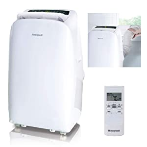 Honeywell HL12CESWW Contempo Series Portable Air Conditioner, Dehumidifier & Fan with Dual Filtration System, 12000 Btu, White