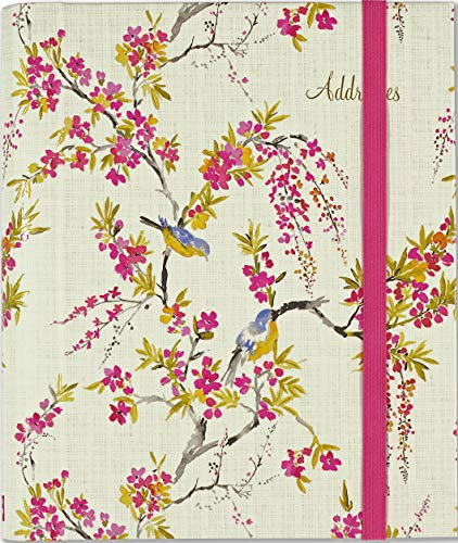 Blossoms & Bluebirds Large Address Book (Victorian Contact Paper)