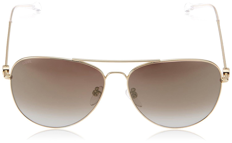 Loewe Damen Sonnenbrille SLWA15G620320, Pink (Shiny Rose Gold), 62