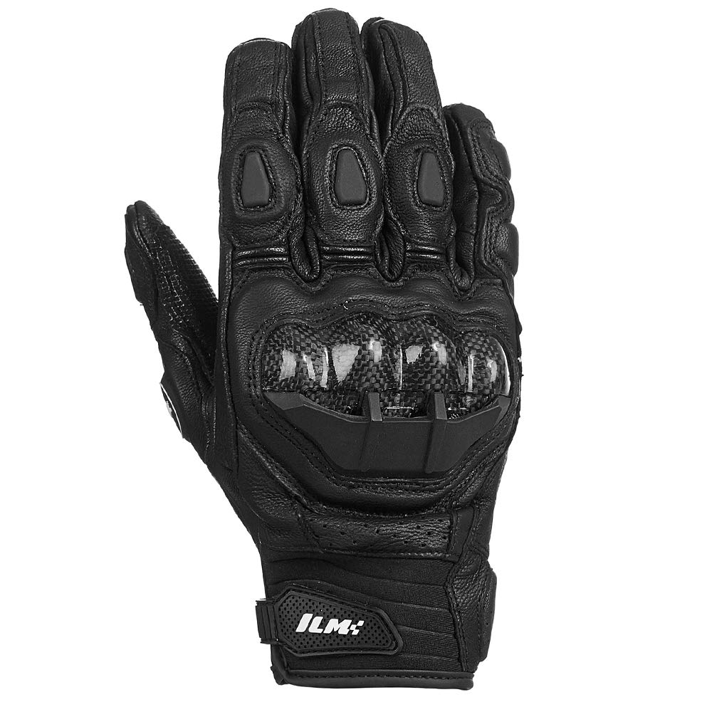 XL, WHITE-LONG ILM Air Flow Leather Motorcycle Gloves For Men and Women