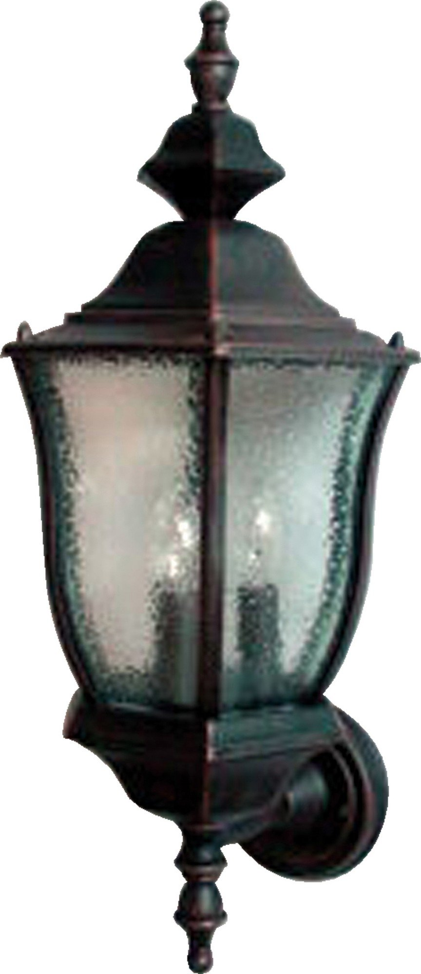 Maxim 1014RP Madrona Cast 3-Light Outdoor Wall Lantern, Rust Patina Finish, Seedy Glass, CA Incandescent Incandescent Bulb , 60W Max., Dry Safety Rating, Standard Dimmable, Frosted Glass Shade Material, Rated Lumens