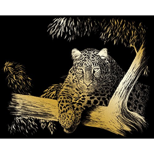 ROYAL BRUSH Gold Foil Engraving Art Kit, 8-Inch by 10-Inch, Spotted (Renewed)