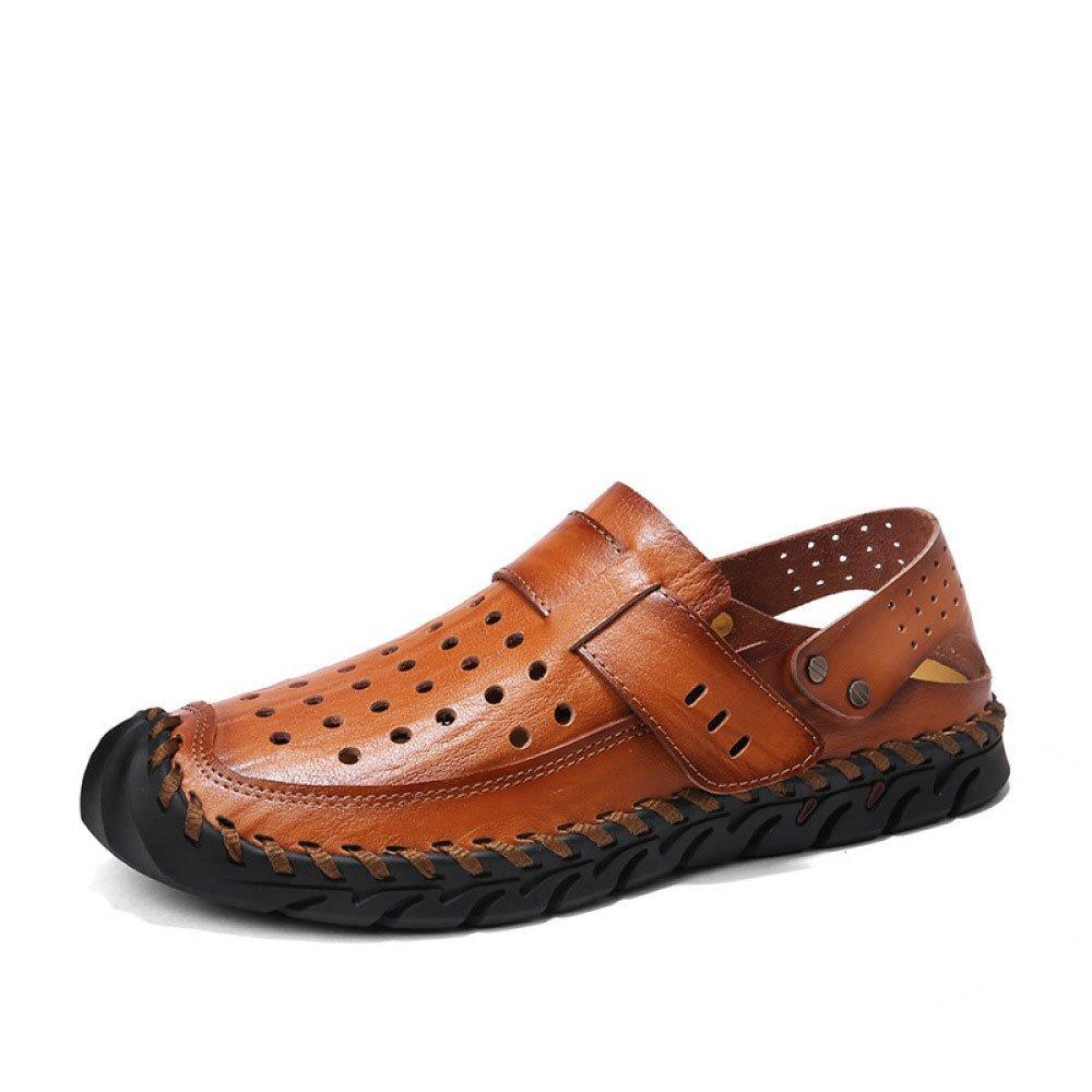 Sandalias De Verano Transpirable para Hombre Recortes Sandalias Conjuntos De Pies Sandalias De Puntera 43 EU|Brown