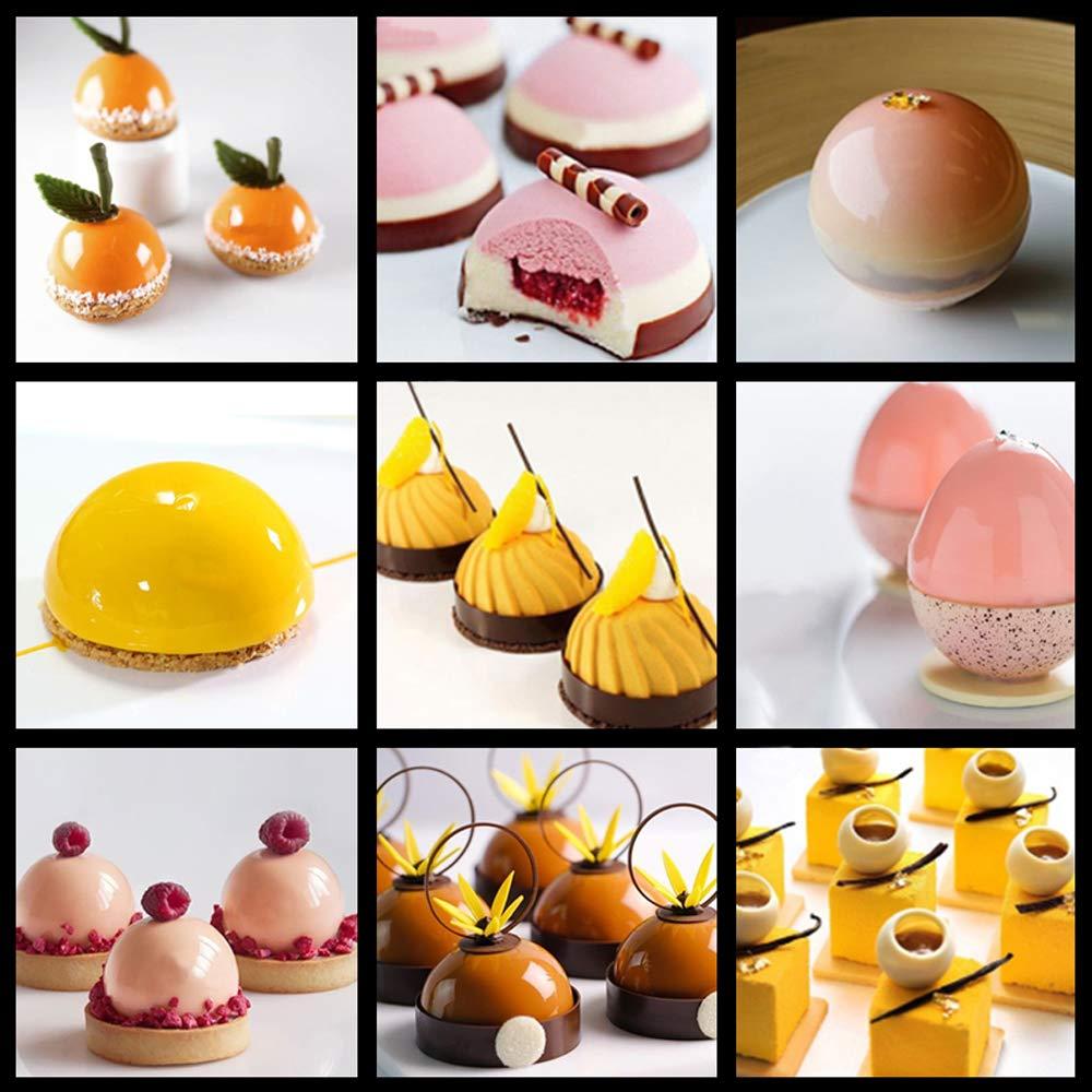 para chocolate jab/ón hecho a mano pud/ín naranja gelatina 3 unidades de 6 agujeros de hemisferio grande molde de silicona tarta fuente 6 cavidades bandeja de silicona de media esfera