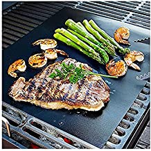 CAILLU BBQ Grill Mat - 17 x 14 inches (Set of 2) - multipurpose can be used for baking and on ovens - reusable and non stick-can used on electric, charcoal and gas grill-easy clean