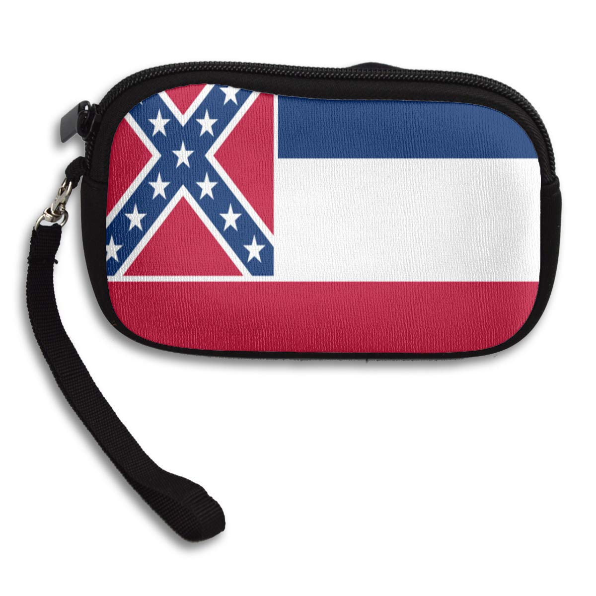 Mississippi State Flag Coin Purse Cute Change Purse,Make Up Bag,Cellphone Bag With Handle Purses For Women