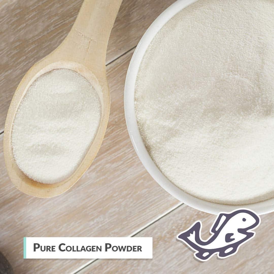 Wild Alaskan Salmon Bone Broth Collagen Powder 1LB Pure Protein Non-Gelling Type - Unflavored, No Taste
