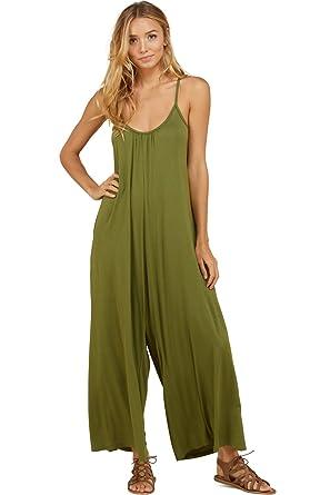 12e7a71024ec Amazon.com  Annabelle Women s Wide Leg Palazzo Shirring Neck Plus Size  Jumpsuit Cargo XXX-Large J8074P  Clothing