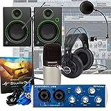 Presonus AudioBox + Samson C01 + Mackie CR4 + Mic Stand Home Recording Bundle Studio