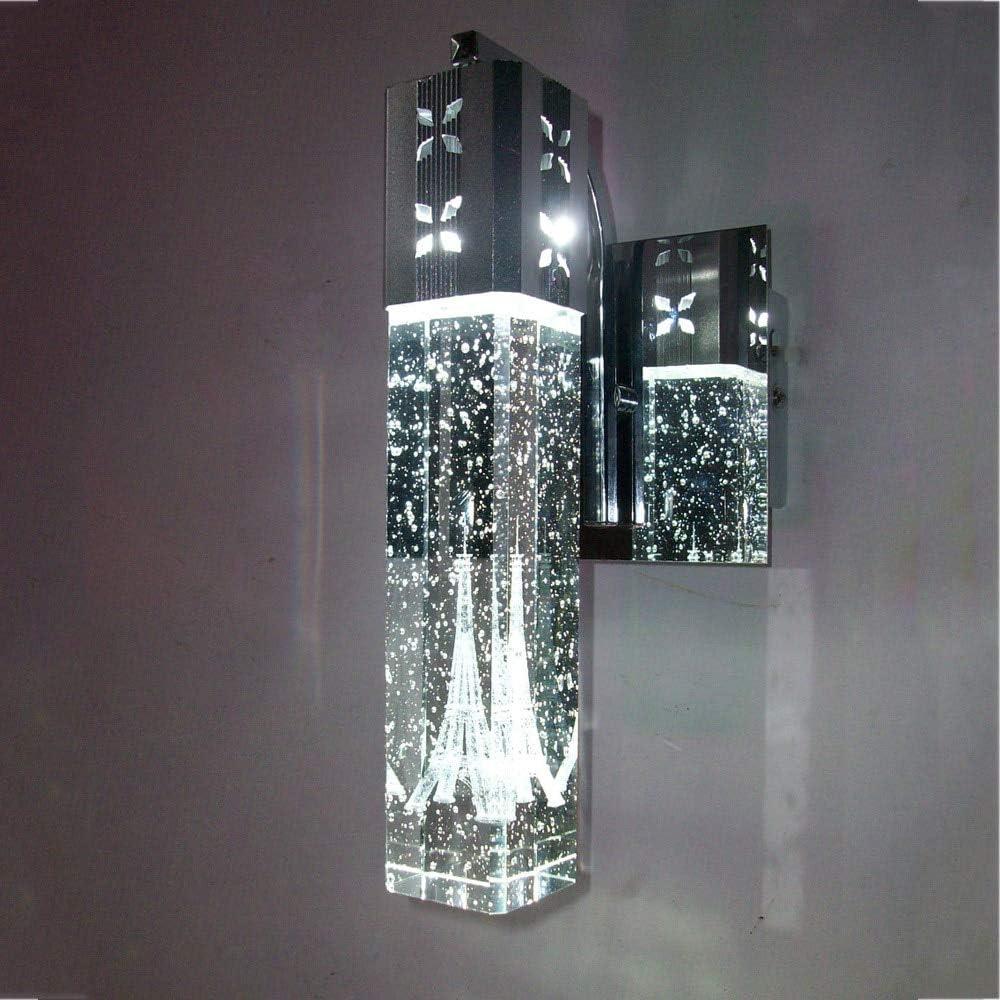 lumi/ère pourpre 240V HNZZN Br/ève tour de Paris moderne en cristal /à bulles LED lampe de maison d/éco chambre colonne aluminium applique murale 110