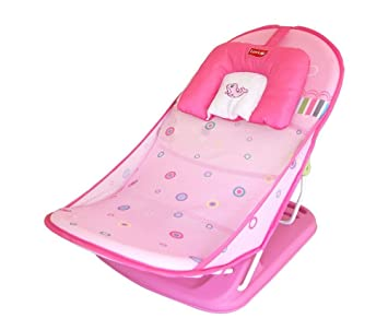LuvLap Pink Ocean Compact Baby Bather - Bath Seat: Amazon.in: Baby