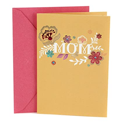Amazon Hallmark Birthday Greeting Card To Mother Flowers