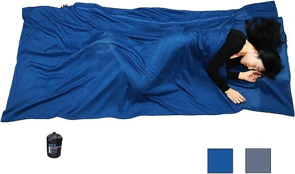 Amazon.com: Browint Silk/Cotton - Sábana de viaje con ...