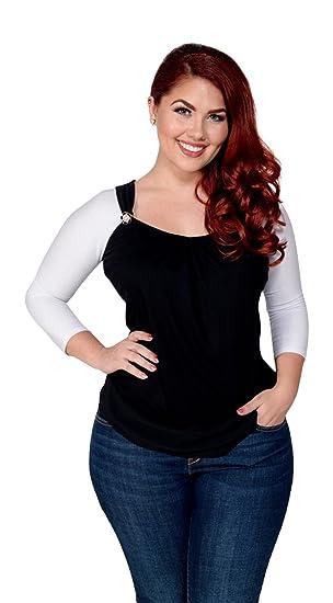 b6a63675be20a5 Sleevey Wonders Women s White Jersey Reversible slip-on 3 4 sleeves (Medium