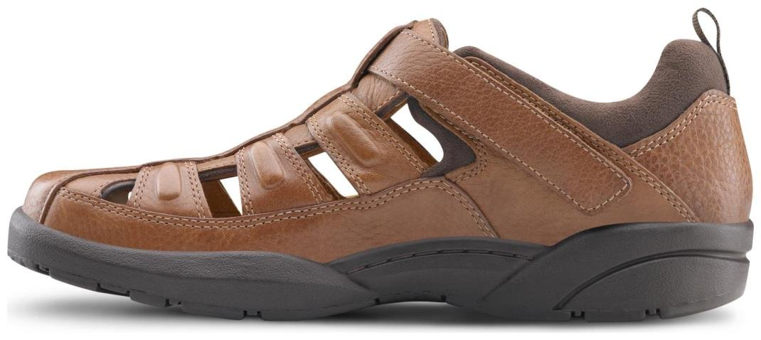 Dr. Comfort Fisherman Men's Therapeutic Diabetic Extra Depth Sandal: Chestnut 11.0 X-Wide (3E/4E) Velcro by Dr. Comfort (Image #4)