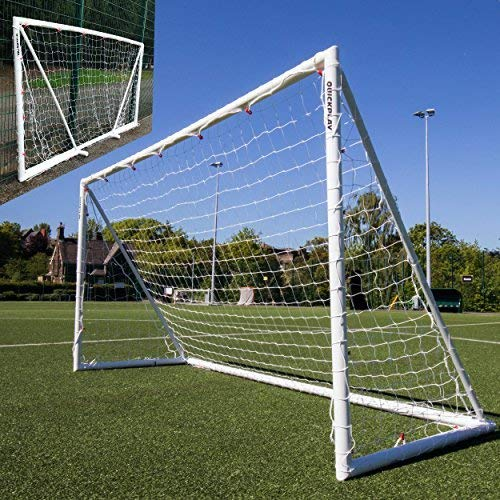 QUICKPLAY Q-Fold 12x6ft | The 30 Second Folding Football Goal for the Garden [Single Goal] The Best Weatherproof Football Net for Kids and Adults - 2YR WARRANTY