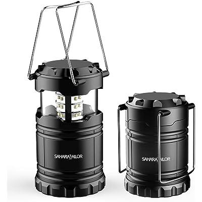 Sahara Sailor Lámpara de Camping LED, Linterna de Camping LED Portátil, Resistente al Agua y al Viento, para Senderismo, Camping, Emergencia, huracán, Falla de energía (1 Paquete)