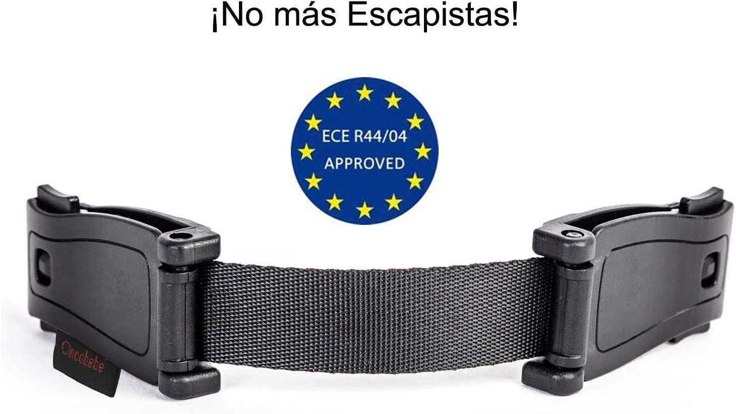 Cincobeb/é Sistema Antiescape,Evita que el Ni/ño Saque los Brazos del Arn/és,con Clips Ensanchados,Pack de 1
