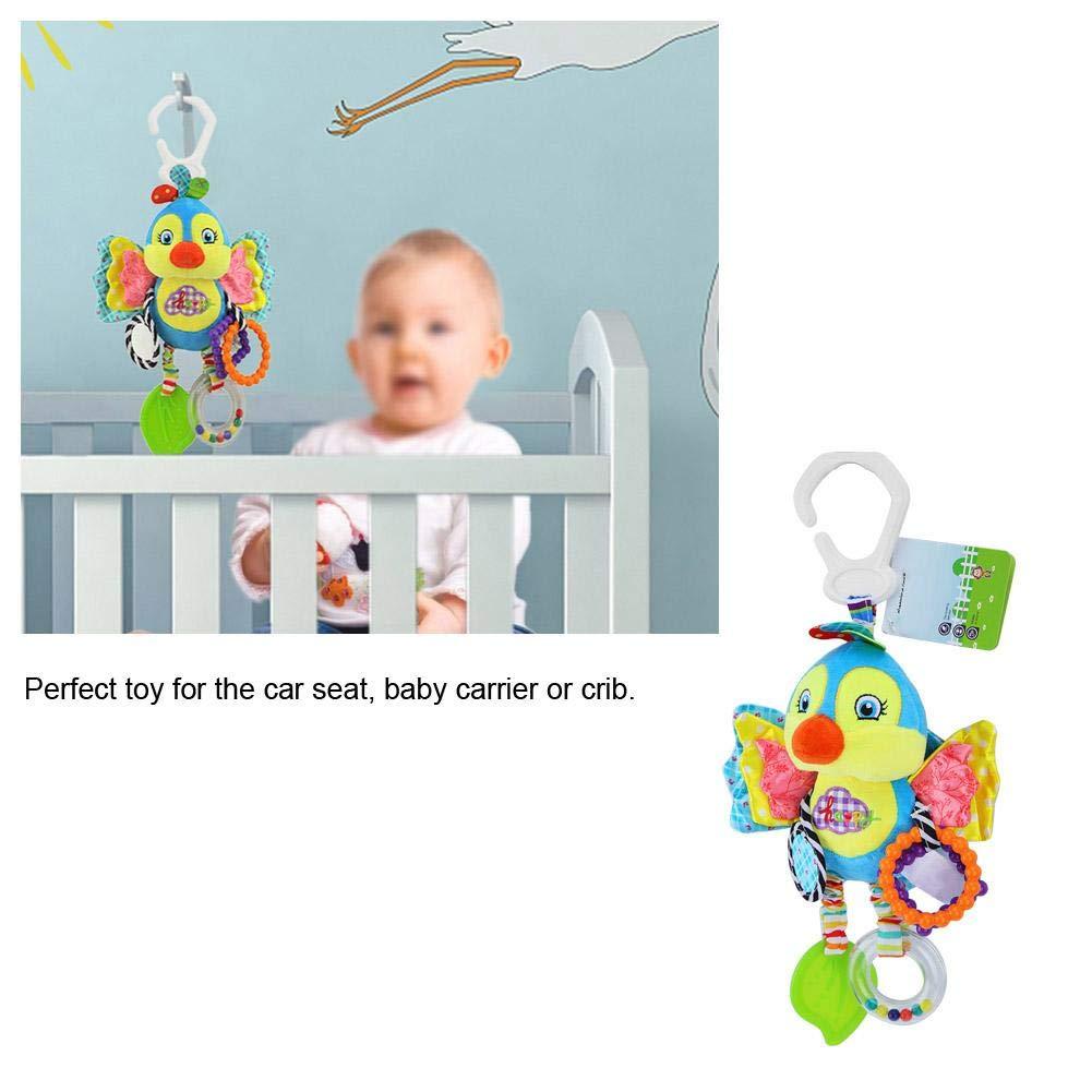 Baby Rassel h/ängen Spielzeug f/ür Bett Krippe Kinderwagen Kleinkind Cartoon Tier Pl/üsch Dekoration Puppe mit Clip Bei/ßring Spiege # 2