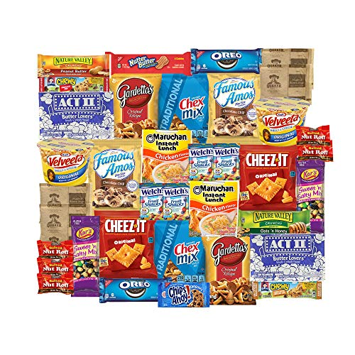 Care Package for College Students, Easter, Finals, Dorms, Birthday, Office Snacks and Gift Baskets (40 Count) From Snack Box