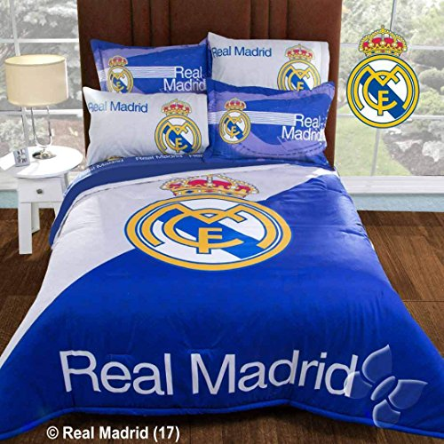 Nice JORGE'S HOME FASHION INC SOCCER SPAIN REAL MADRID ORIGINAL LICENSE TEENS BOYS WONDERFUL DESIGN COMFORTER SET AND SHEET SET QUEEN SIZE free shipping