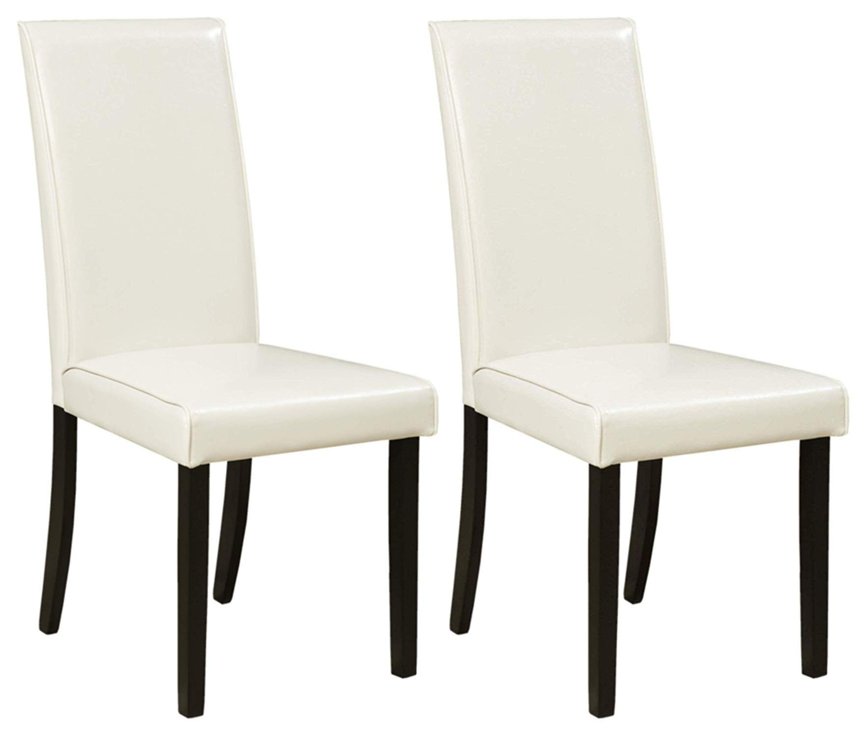 Ashley Furniture Signature Design - Kimonte Dining Room Chair - High Back - Contemporary - Set of 2 - Ivory by Signature Design by Ashley