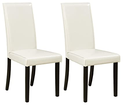 Ashley Furniture Signature Design Kimonte Dining Room Chair High Back Contemporary Set Of 2 Ivory