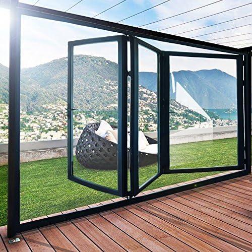 Tuff Concepts – Bi Fold puertas negro Calidad Aluminio 3 paneles con cristal: Amazon.es: Bricolaje y herramientas
