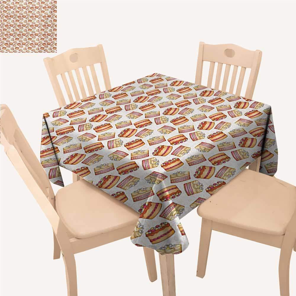 サボテン しわ防止 テーブルクロス 幾何学模様 背景 ジグザグ メキシコ風 植物のアレンジメント 植物バーベキューテーブルクロス マルチカラー W 60